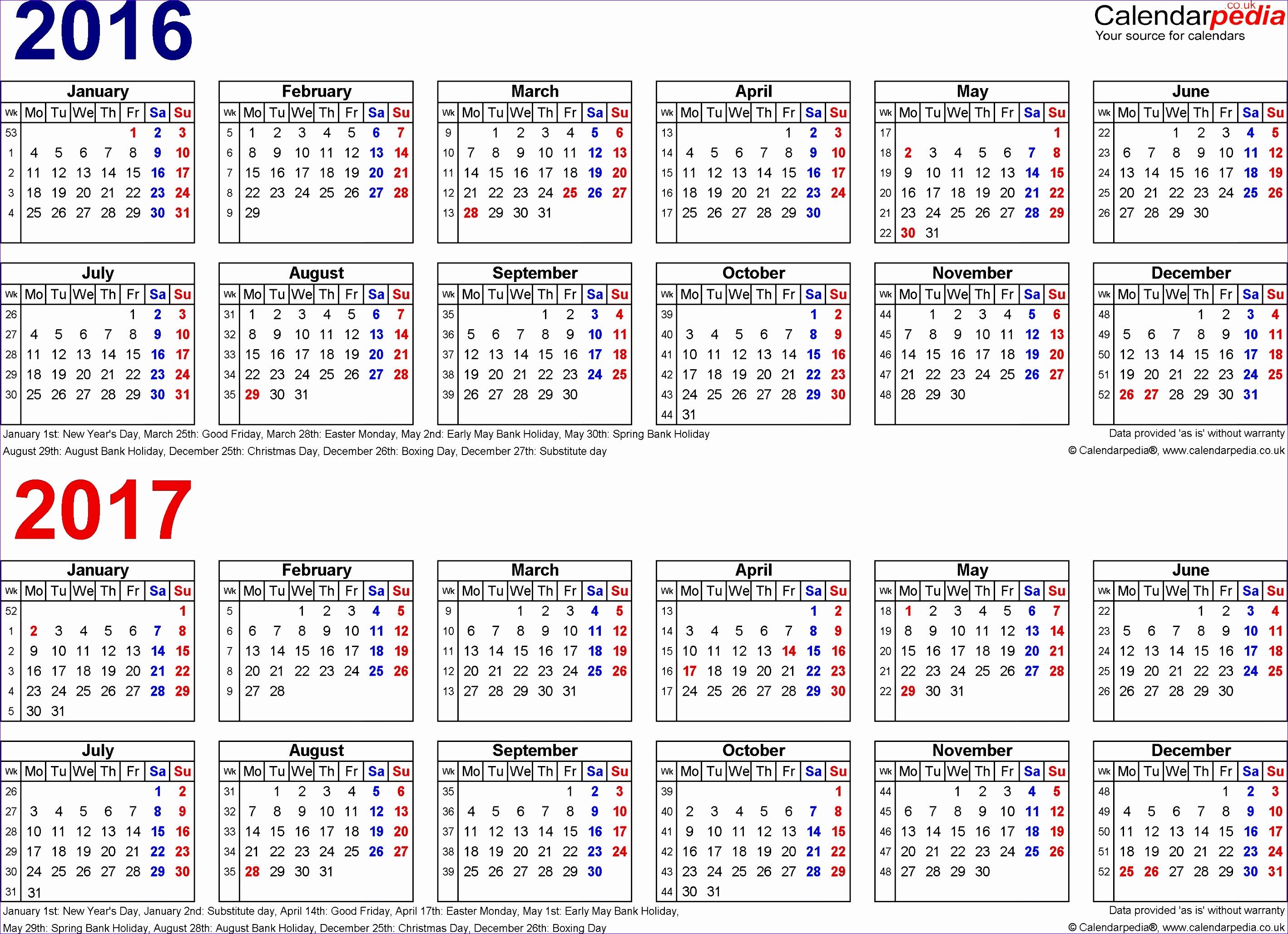 6 excel calendar schedule template - exceltemplates