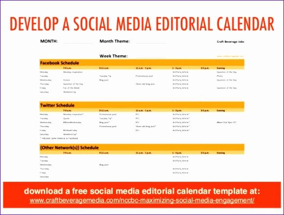 Excel Calendar Schedule Template Uhihd Beautiful Social Media