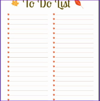 personal to do list template 332335