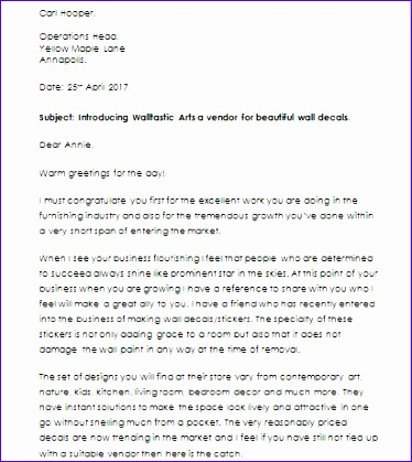 business introduction letter template 374419