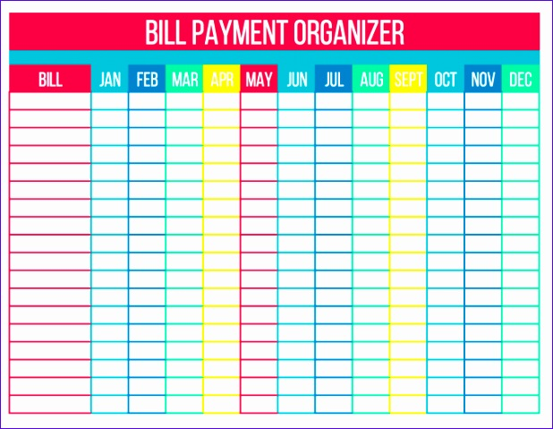 organize bills free printables 618479