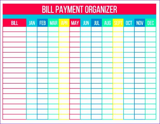 organize bills free printables 618479