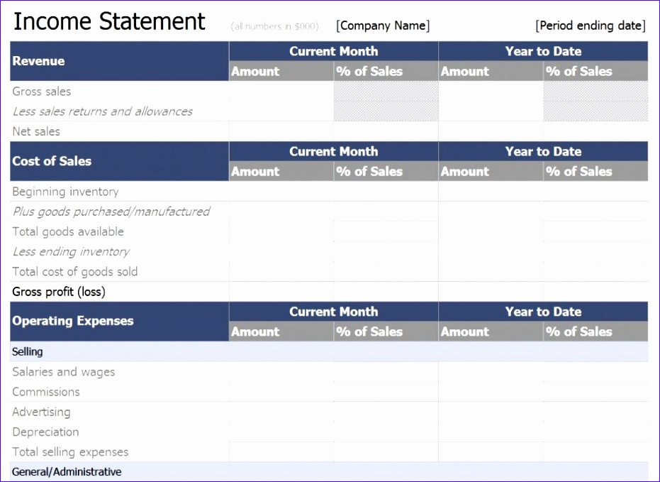 excel in e statement template 931679