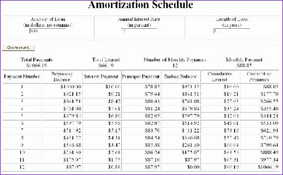 10 excel loan amortization schedule