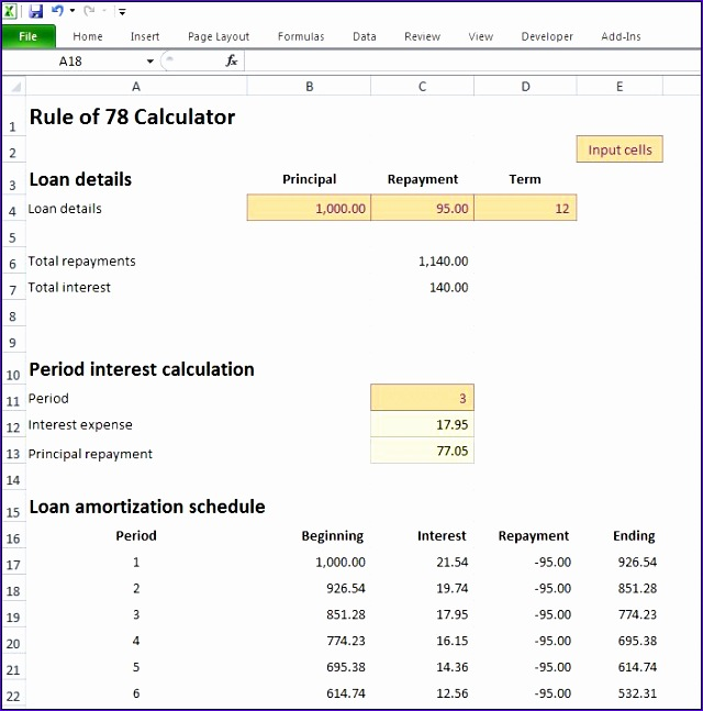 rule of 78 calculator 640647