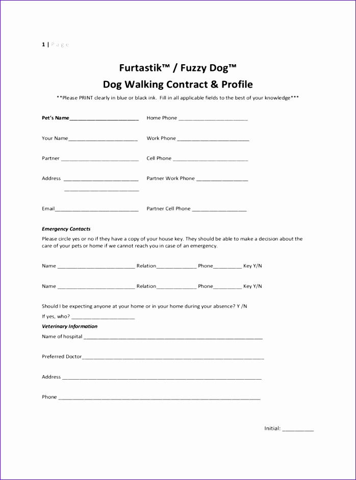 dog walking contract template 698942