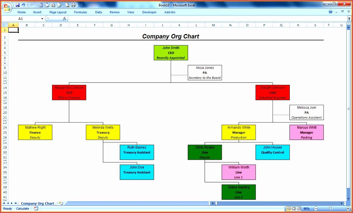 11 organizational chart template excel 1173708