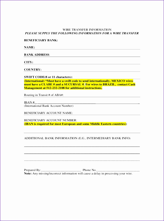 wire transfer form 698942