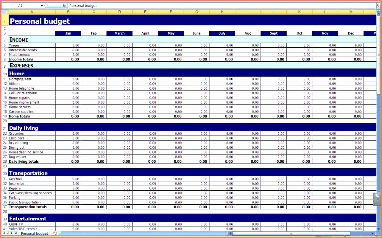 9 monthly bud excel template 1283799