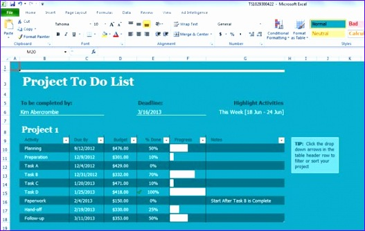best excel templates for project management 527334