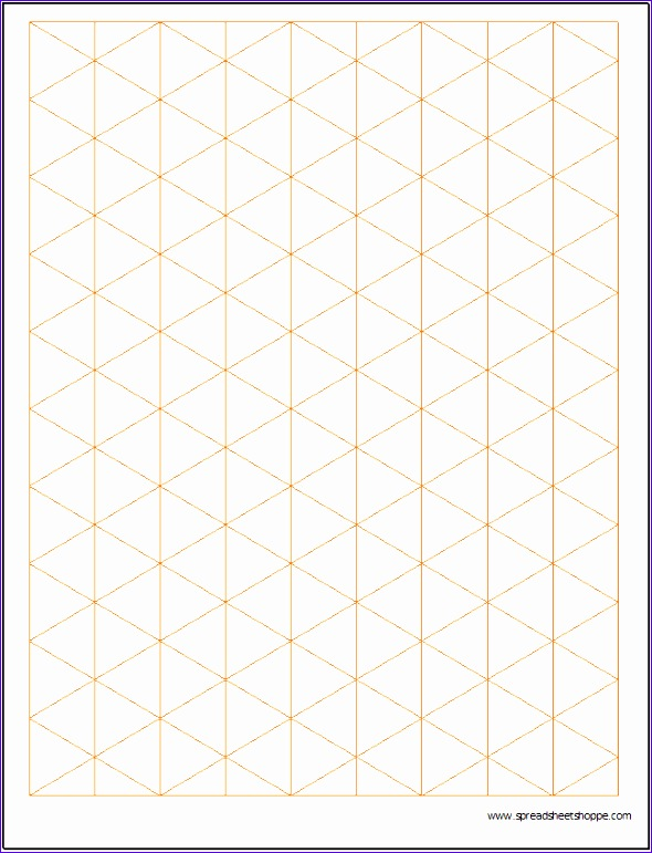 isometric graph paper template 590771