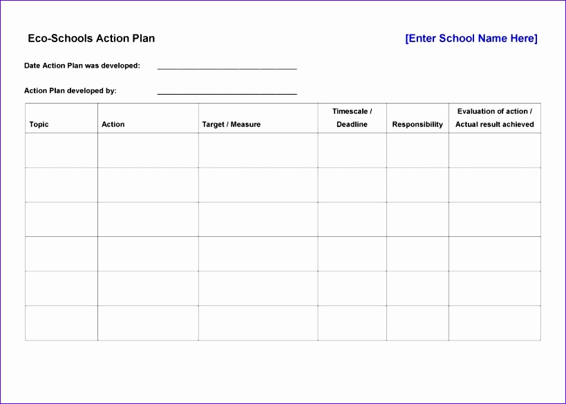 action plan template 819585
