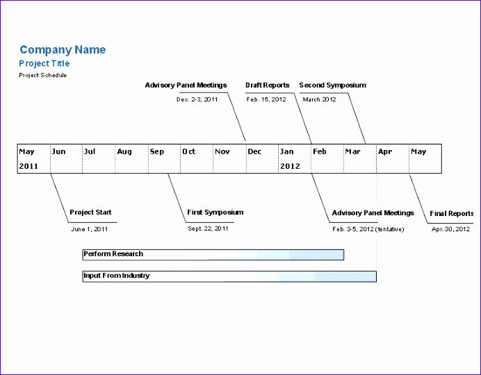 project timeline excel template 692540