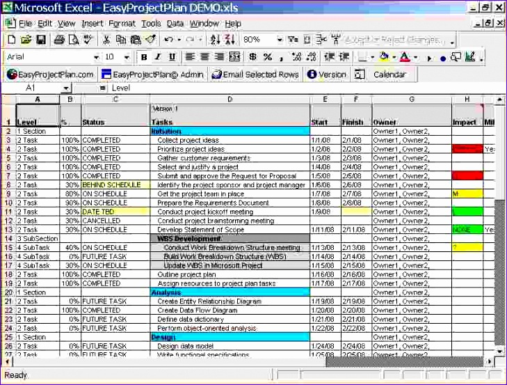 3 project planning template excel 729553