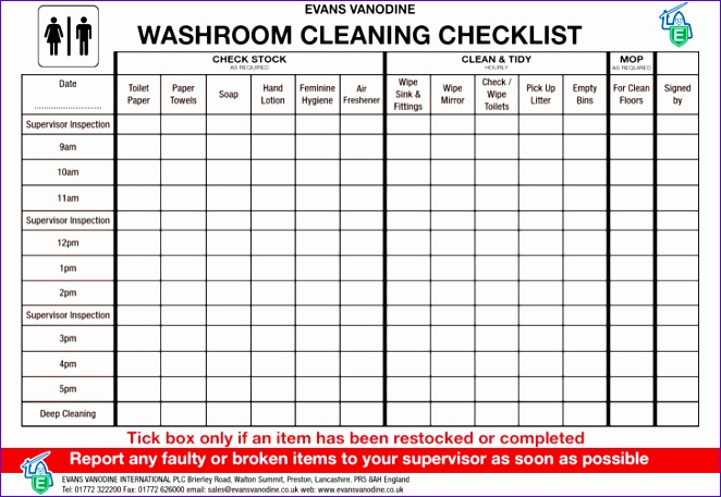 toilet cleaning roster template 662456