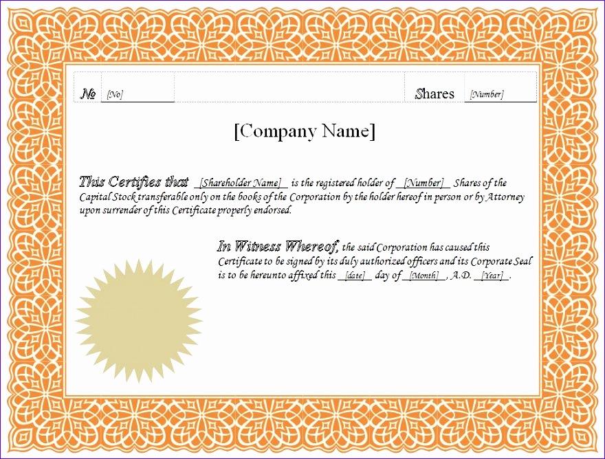 stock certificate 880668
