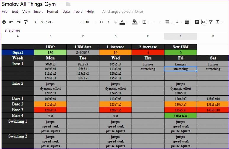 smolov squat routine spreadsheet 774503
