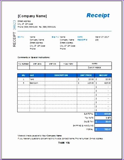 itemized receipt template free 397511