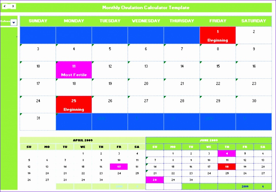 ovulation calendar printable 931649