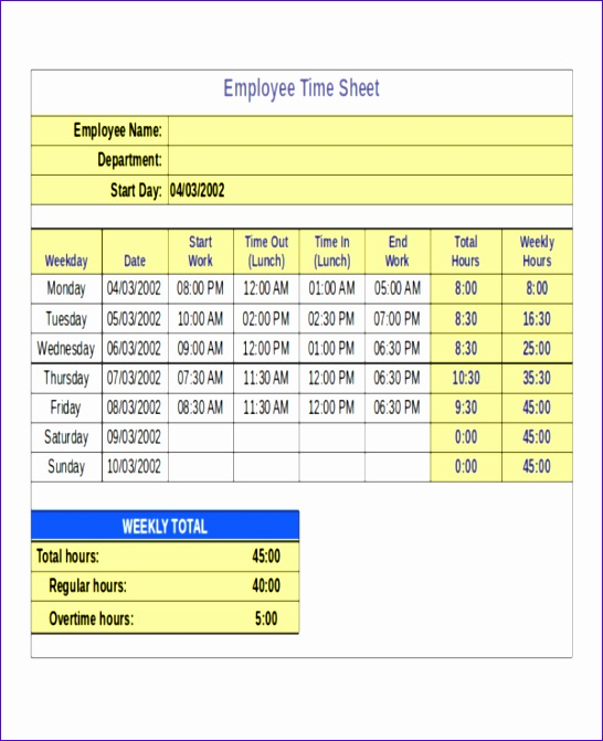 Excel Timesheet Template with formulas Fsvzq Inspirational 24 Timesheet Templates Free Sample Example format 600730
