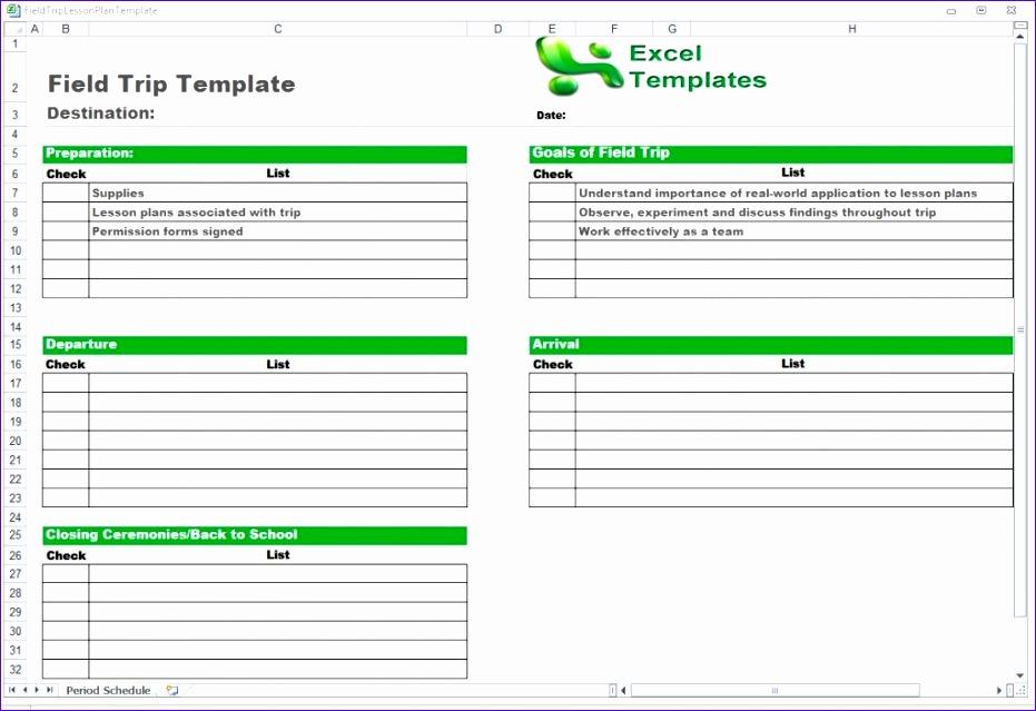 trip schedule template 931639