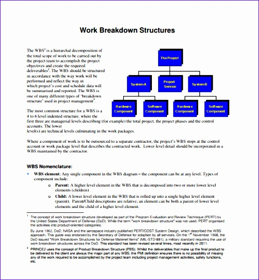 work breakdown structure template 532575