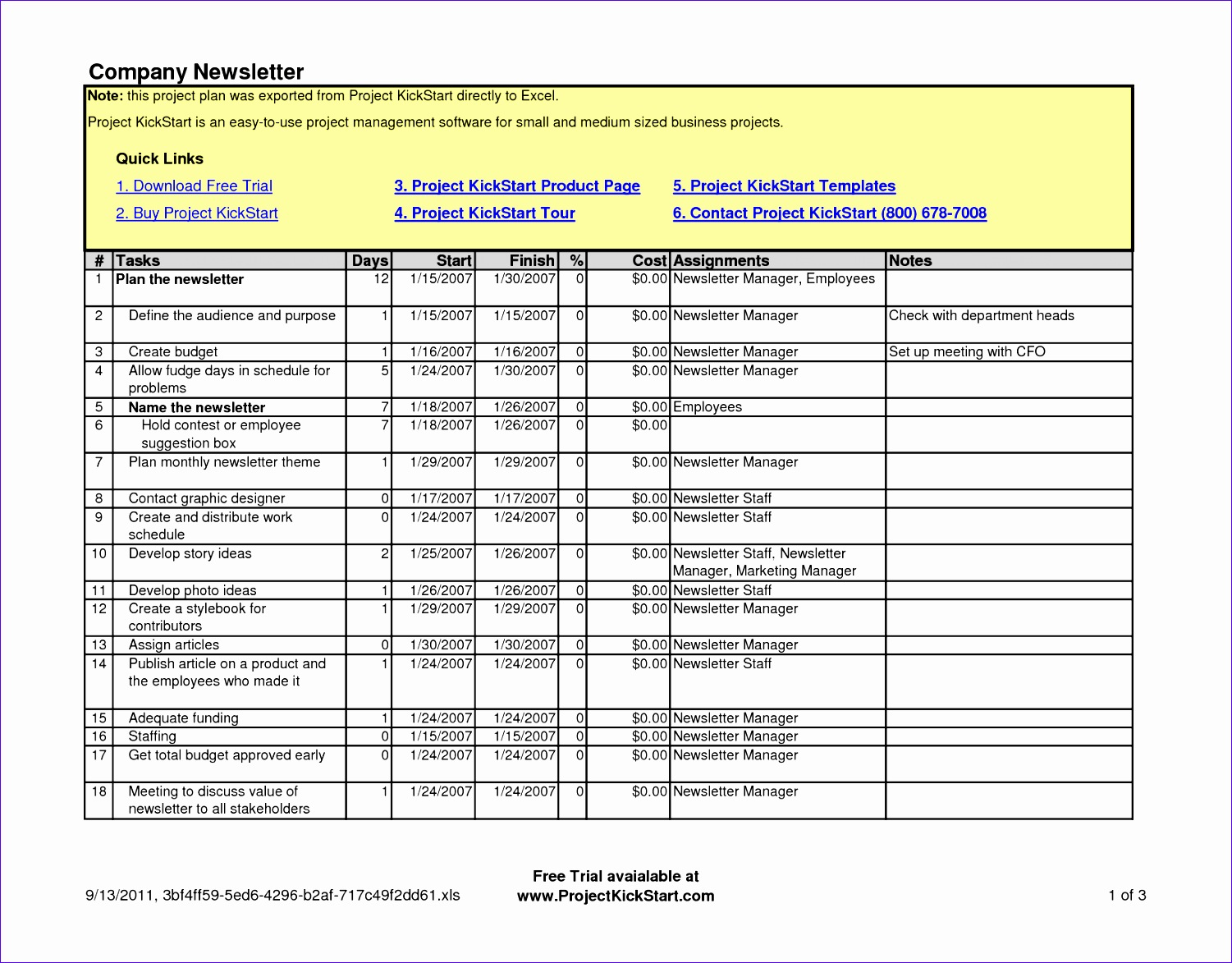 post project management work plan template 15011173