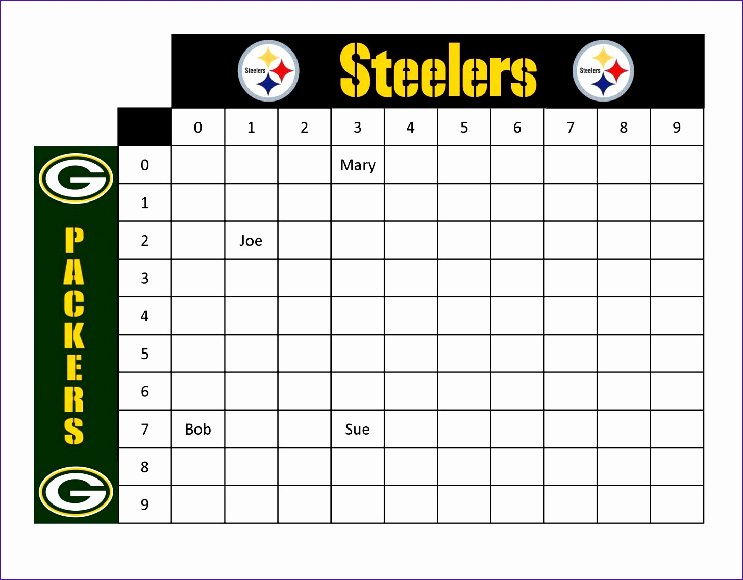 It is a graphic of Dashing Printable Football Pool Sheets