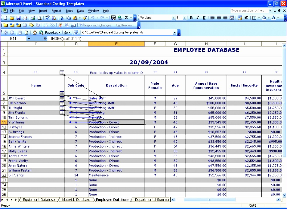 10 free employee database template in excel for Excel template employee information
