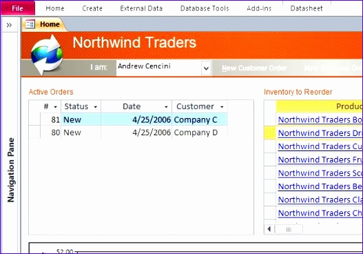 desktop northwind sample access database template 527368