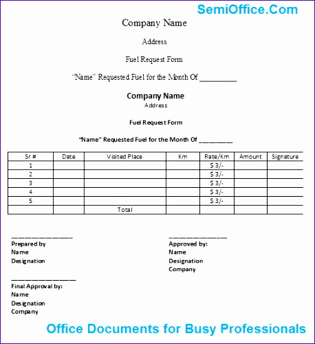 Fuel Allowance Application Form In Excel And Word Free  Po Form Template