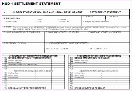 Hud 1 Excel Template Ned1s Unique What Details are Included In A Hud 1 Settlement Statement 500341