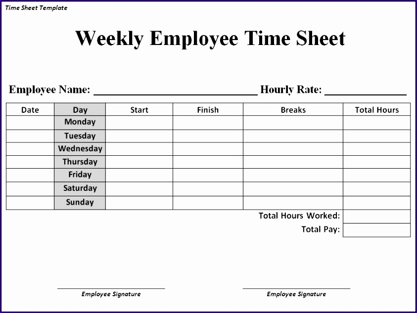 free monthly timesheet 843633