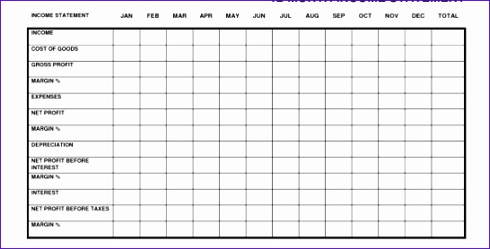 Monthly Financial Statement Template Excel Ahxsa Beautiful Monthly In E Statement Excel Monthly In E Statement 600303
