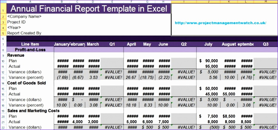 Monthly Financial Statement Template Excel L9tnd Awesome Get Annual Financial Report Template In Excel Free 1024476