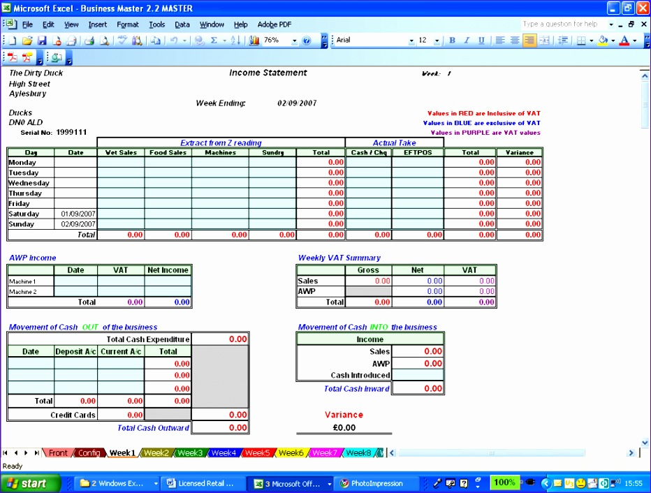 Monthly Profit and Loss Statement Template Excel Cuhed Best Of Licensed Retail Manager 1025768