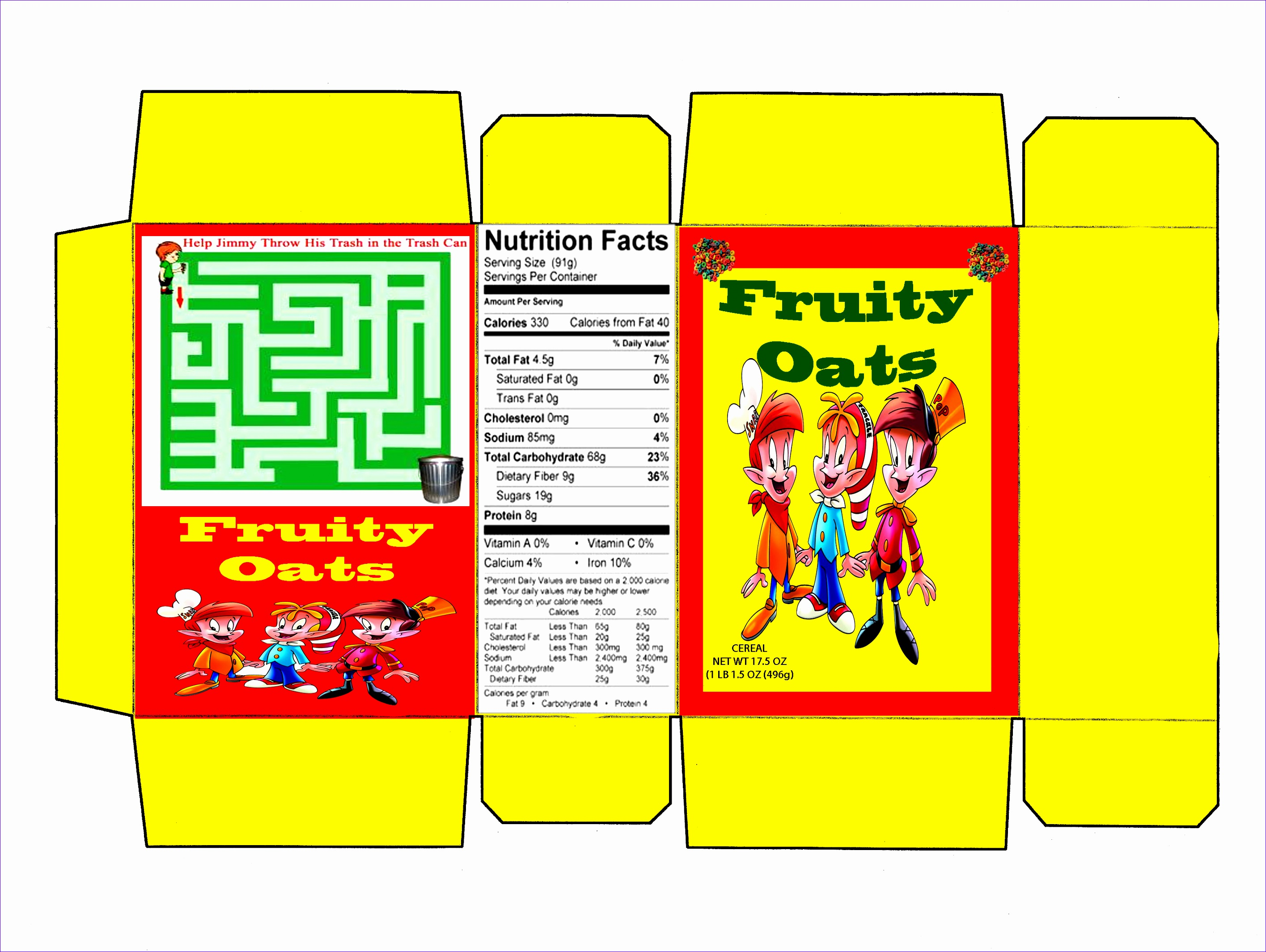 Nutrition Label Template Excel Utymg Lovely Cereal Box Template 31112315