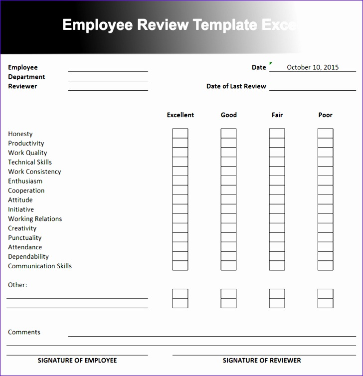 employee performance review template 728754