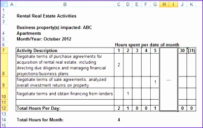 sample log for tracking rental real estate activities 400253