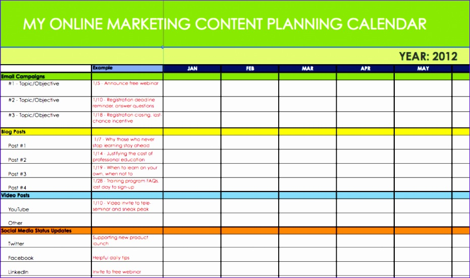marketing calendar template 931550