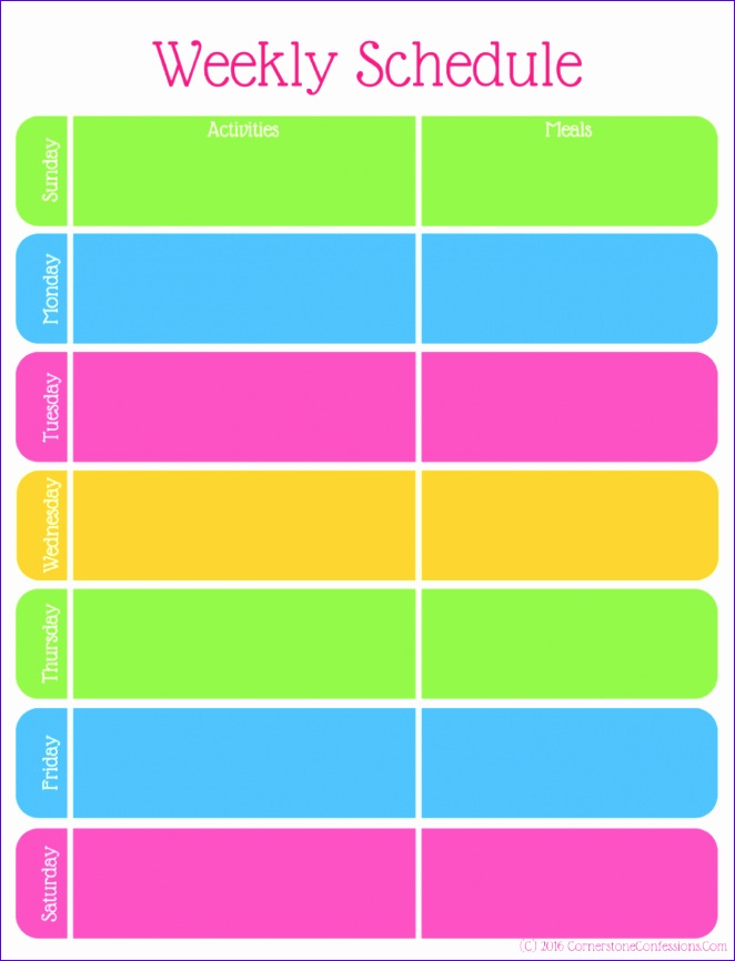 School Timetable Template Excel Njeuh Lovely Get organized with This Weekly Schedule Printable 728942