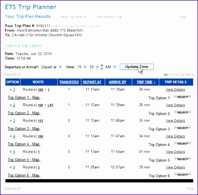 Travel Schedule Template Excel Kvewq New Ets Trip Planner Help City Of Edmonton 430419