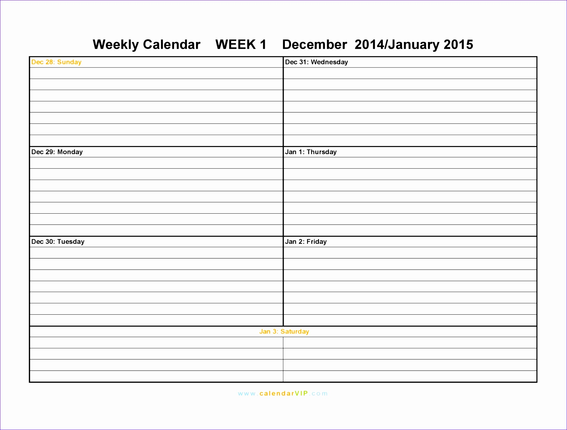 Week Planner Template Excel I2zoo Elegant Printable Weekly Schedule Sun Sat 20481536