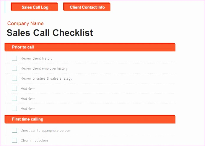 sales call report template 694495