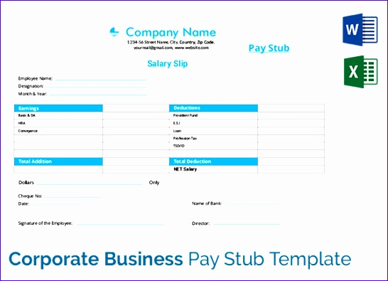 pay stub templates 546395