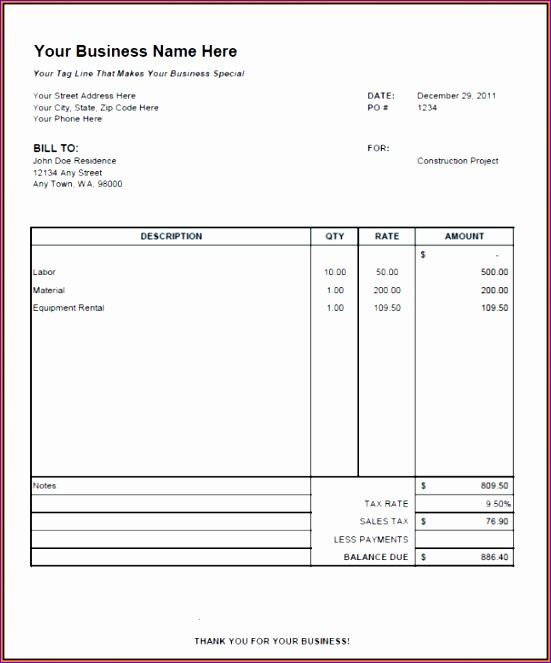 11 independent contractor invoice template 551663