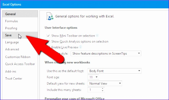 how to change the default file format for saving in word excel and powerpoint 2016 591352