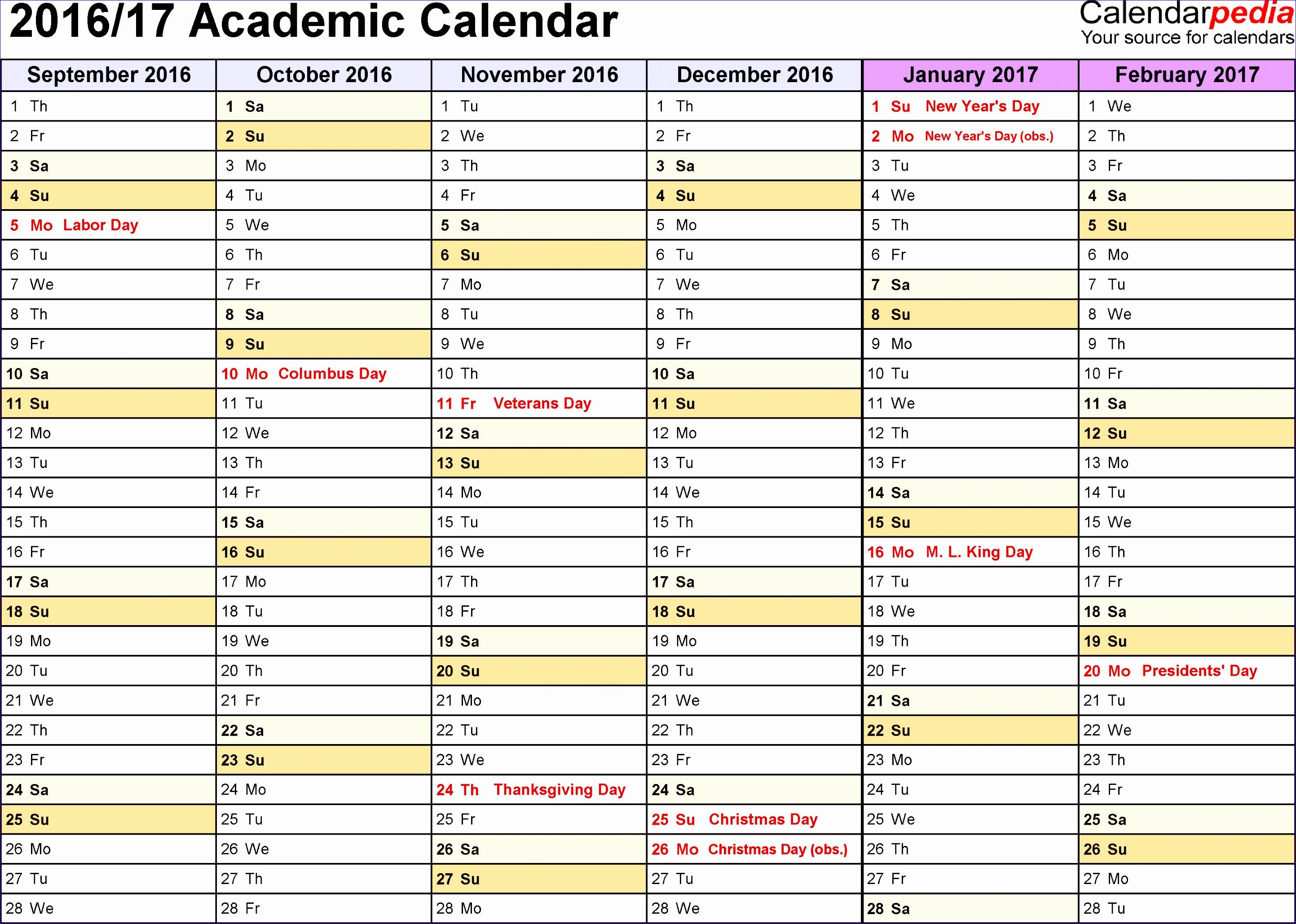 academic calendar 2016 17 template 74 28862059