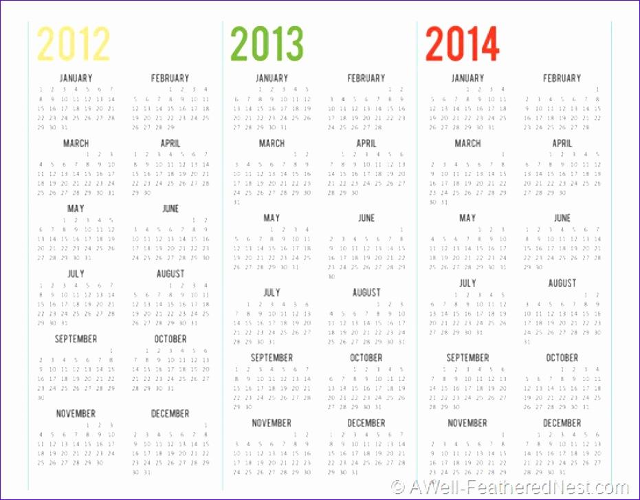 3 year calendar printable 931727