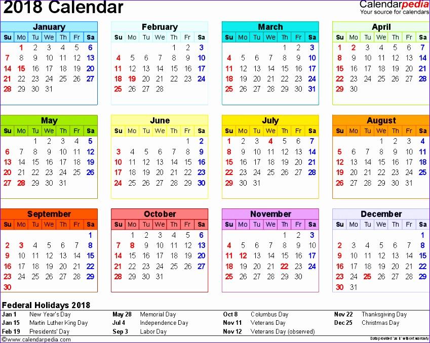 2018 printable calendar word 1321 849678